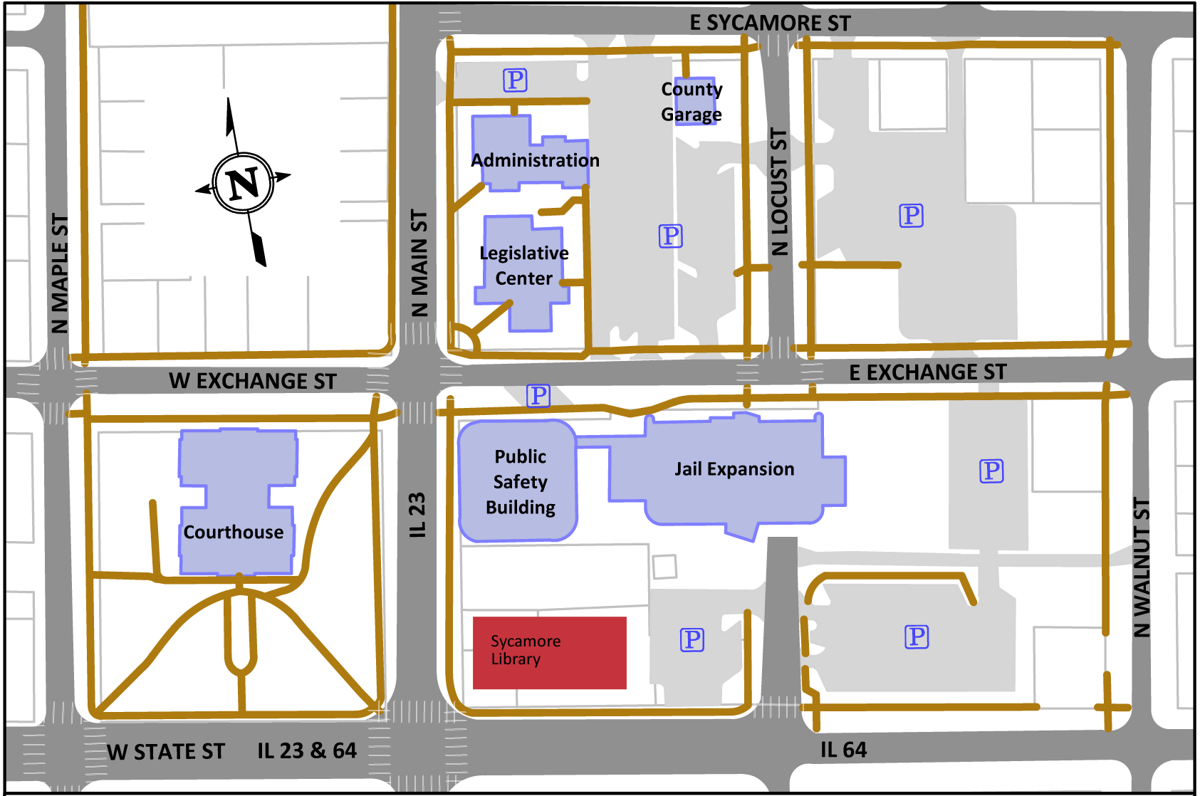 Directions to Facilities & Sites on