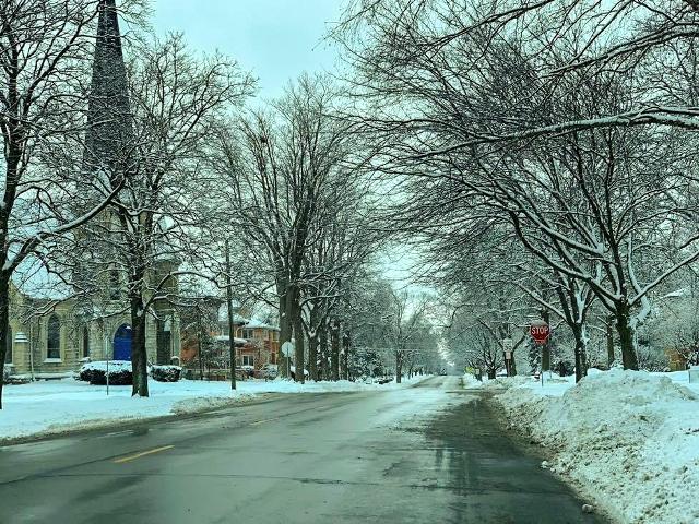 Winter on Somonauk Street, Sycamore, IL
