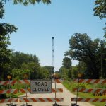 Road closed – Equipment has been moved in