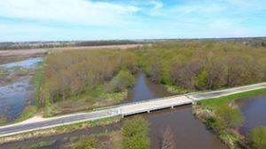 Motel Road Bridge over river