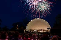 Fireworks over the Band Shell